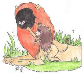 Yawning Lion by Reeduslut