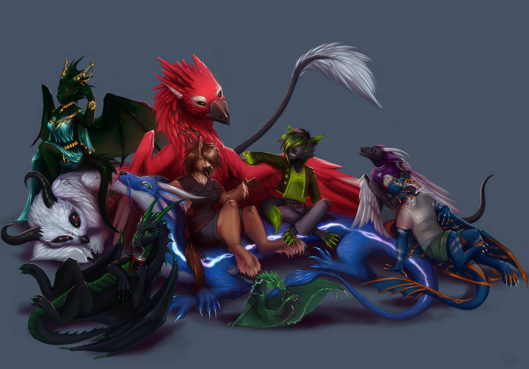 (Commission) FDergz 2nd group pic by NetrialisPL