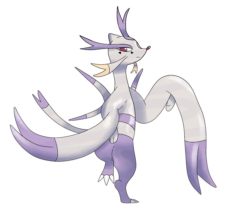 Mega Mienshao Sugimori Style by Thundrbolt