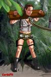 Lara Croft in stocks