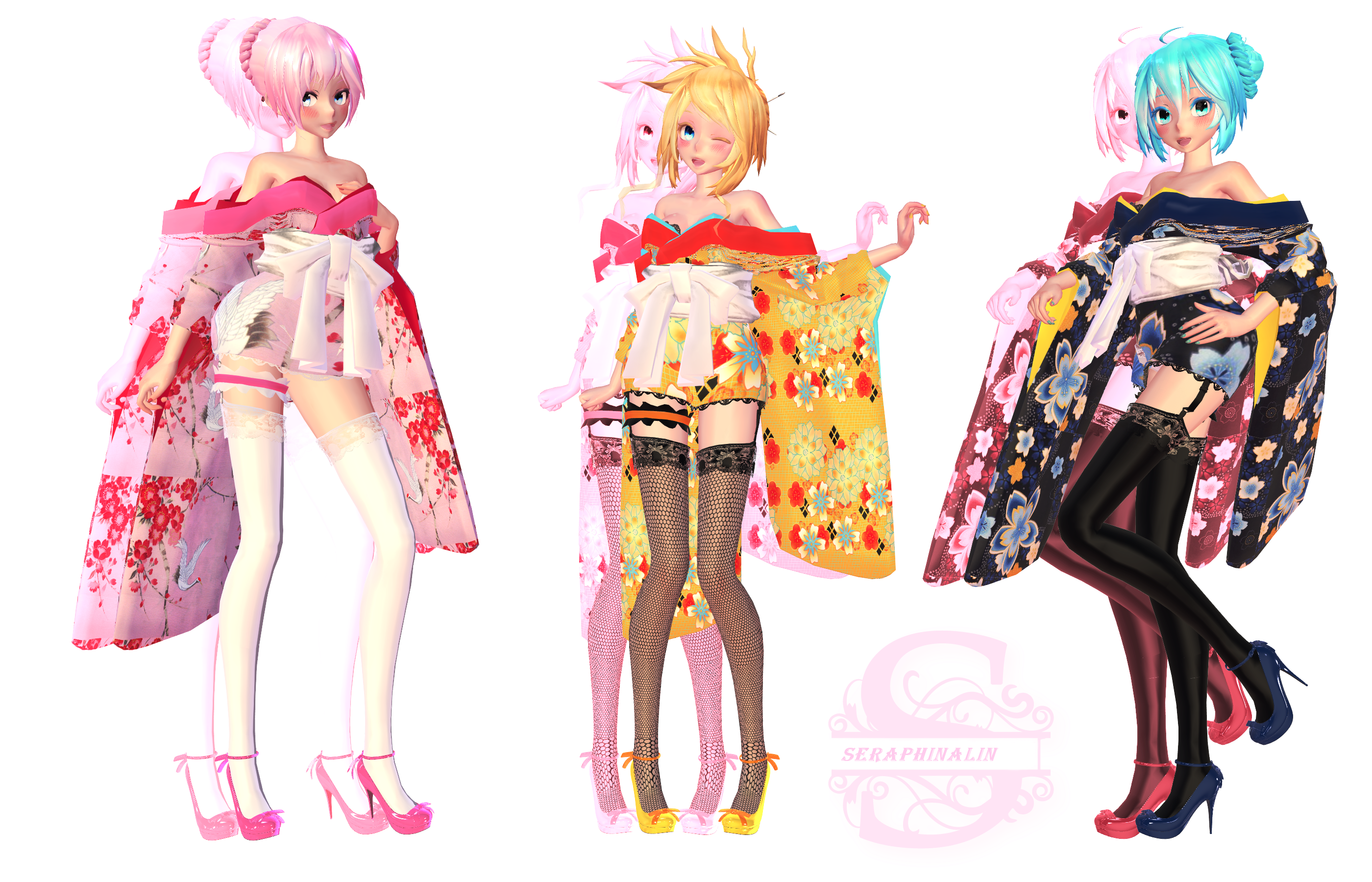 Tda Short Kimono Pack 1 by Evelyn-sama