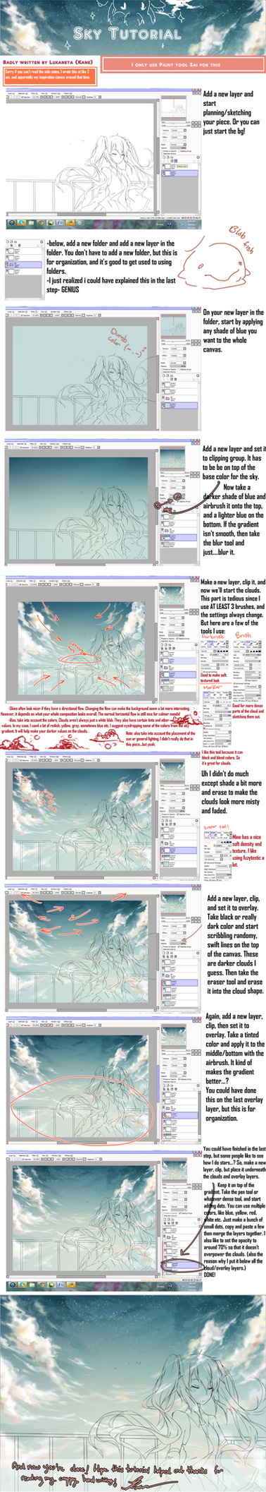 Sky Tutorial I think by Kanekiru