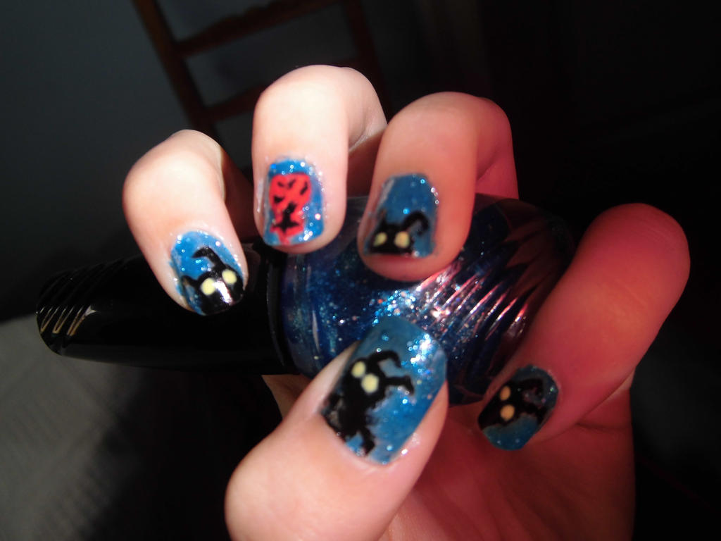 Kingdom Hearts nail art \'w\' by Anacr0ss on DeviantArt