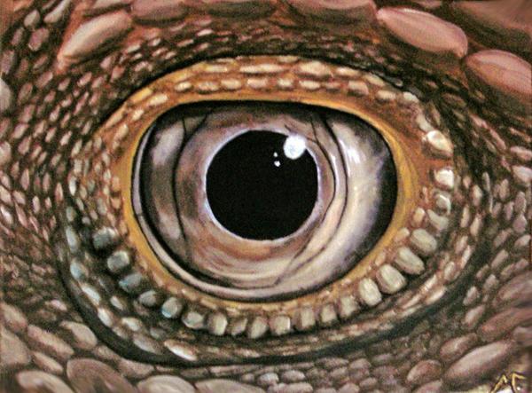 iguana eye painting - photo #23