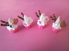 Pink Cupcake Charms by sangitchi