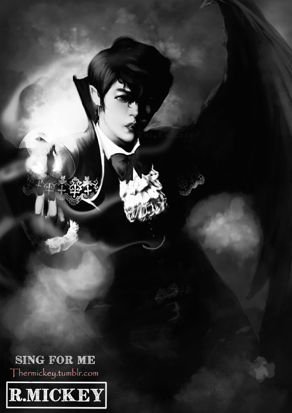 Vampyr Luhan (Monochromatic Ver.) by The-Rmickey