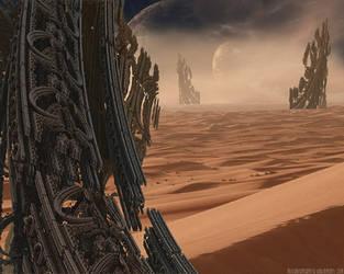 Desert Spires by milleniumsentry