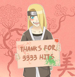 THANKS FOR 3333 HITS by irusik666