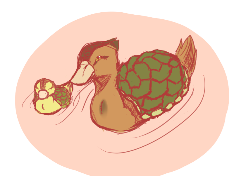 Turtle Ducks by intheoreocar