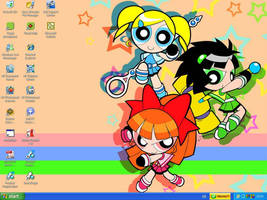 Powerpuff Girls desktop by animequeen20012003