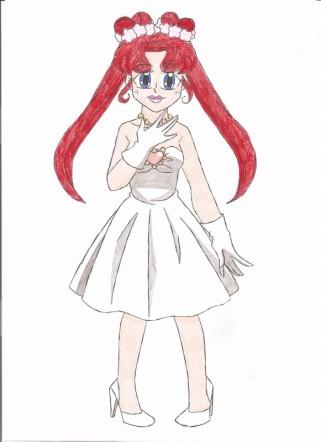 Chibi Chibi's wedding dress by animequeen20012003