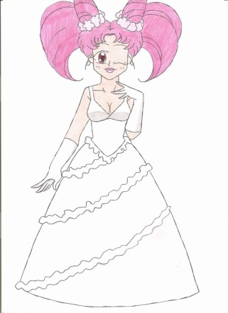 Chibiusa's wedding gown by animequeen20012003