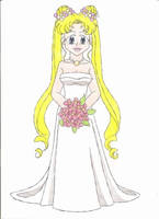 Contest: Usagi's wedding gown by animequeen20012003