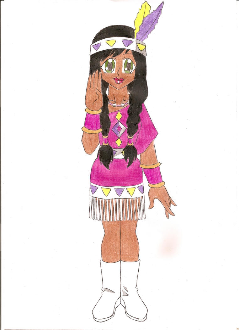 Village Girl: Native American by animequeen20012003