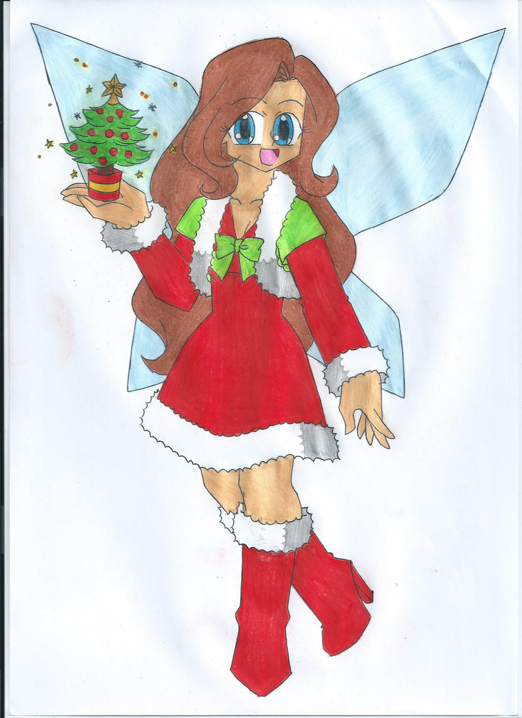 Cheryl the Christmas Tree Fairy by animequeen20012003 Cheryl the Christmas  Tree Fairy by animequeen20012003