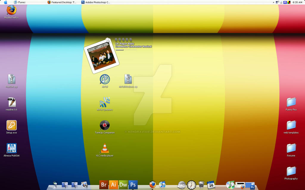 Rainbow Stripes by kendravixie