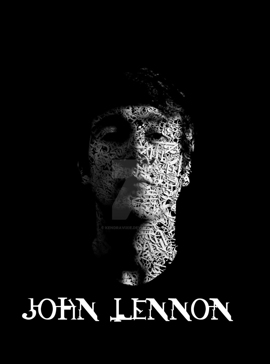 John Lennon in Typography by kendravixie