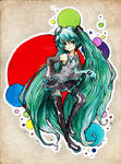 Miku - Lineart by Nerd-sama