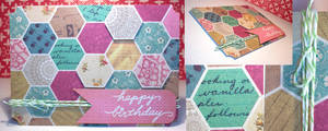 Card: Happy Birthday Hexagons