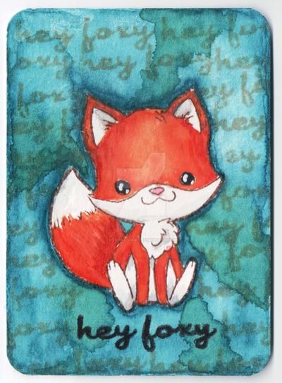 ATC: Hey Foxy Card by kendravixie