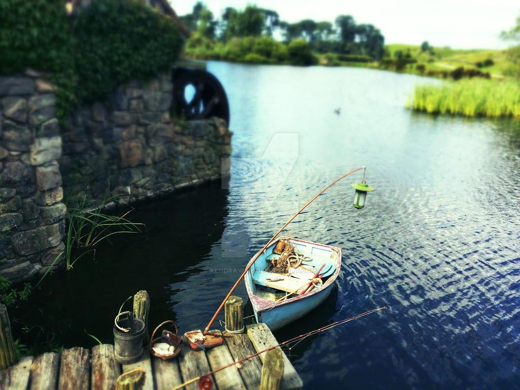 Hobbiton - Gone Fishing by kendravixie