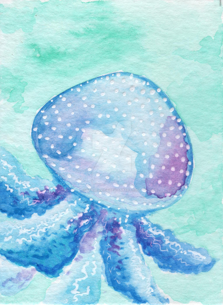 Spotted Jellyfish ATC by kendravixie