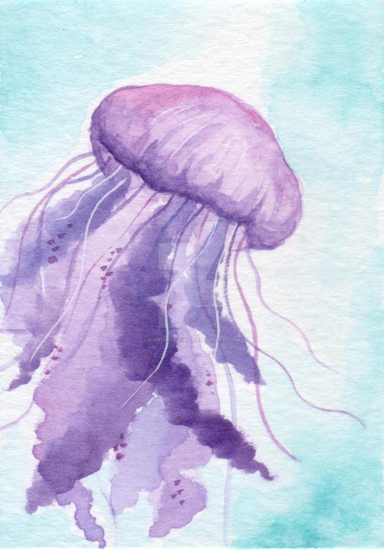 Purple Jellyfish by kendravixie