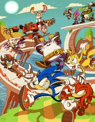 Sonic Heroes by Miledblur