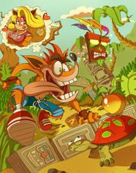 Crash Bandicoot by Miledblur