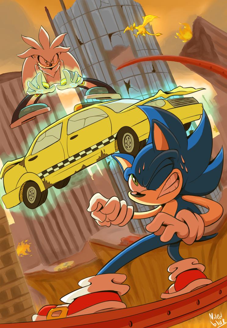 Sonic 06 by Miledblur