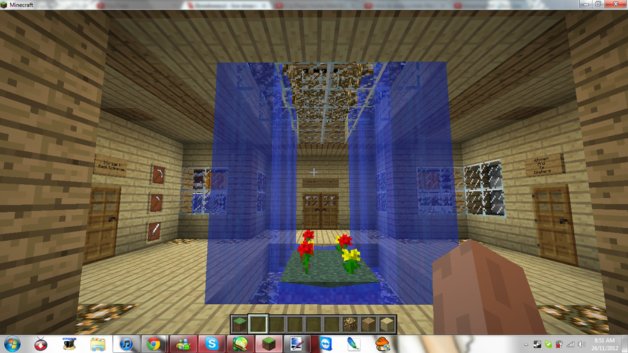 Minecraft my new home living room by mikamori on for Living room minecraft