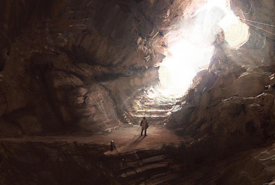 Cave Exit by jordangrimmer