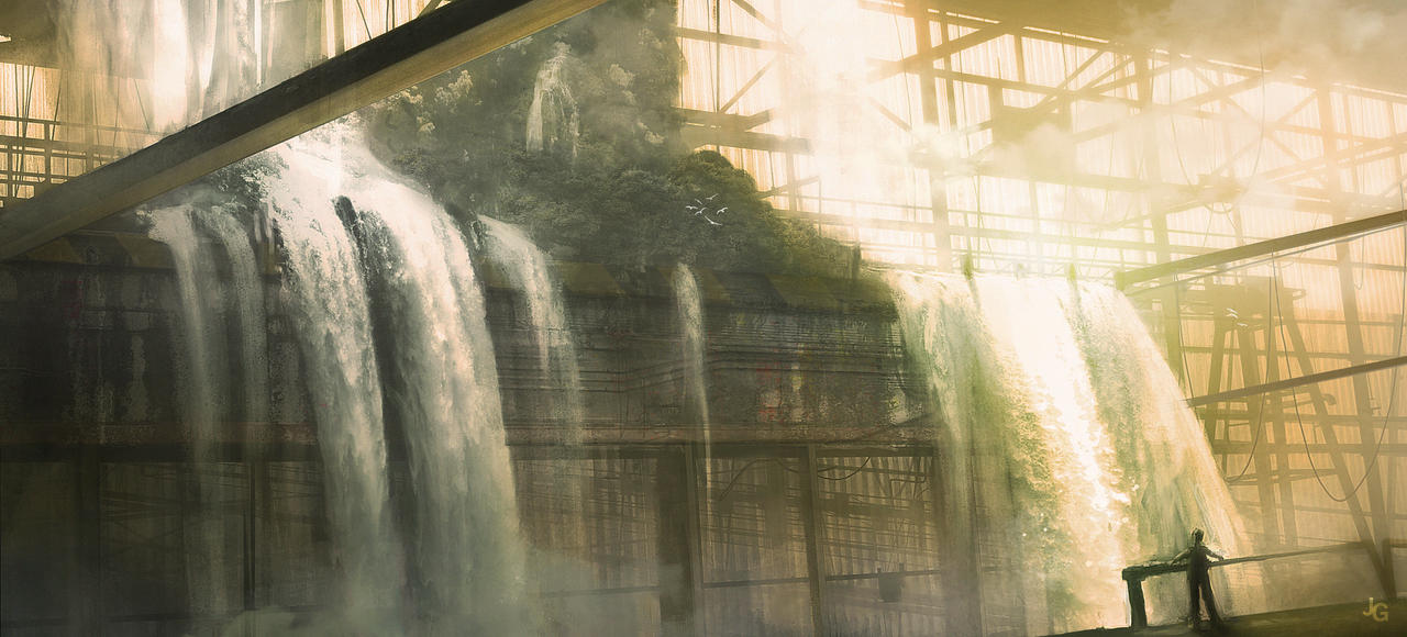 [CIUDAD]: Hell's Point The_waterfall_factory_by_kingcloud-d3huumh