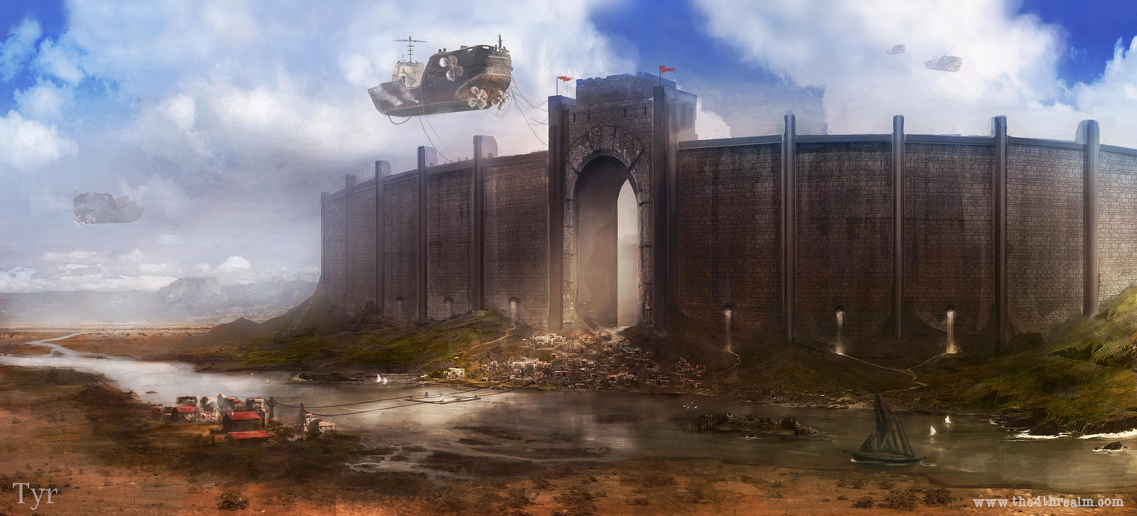 Tyr City Walls by jordangrimmer