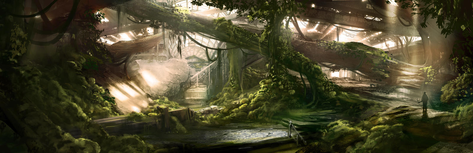 Overgrown Arcade by jordangrimmer