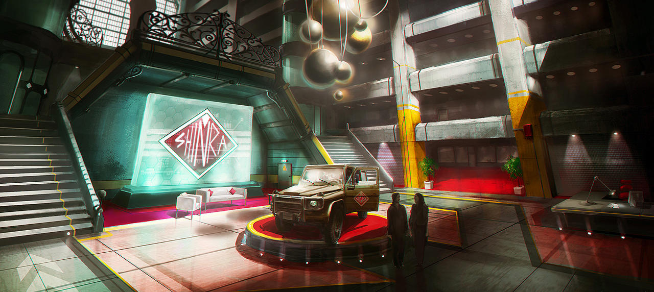 Shinra Lobby by jordangrimmer