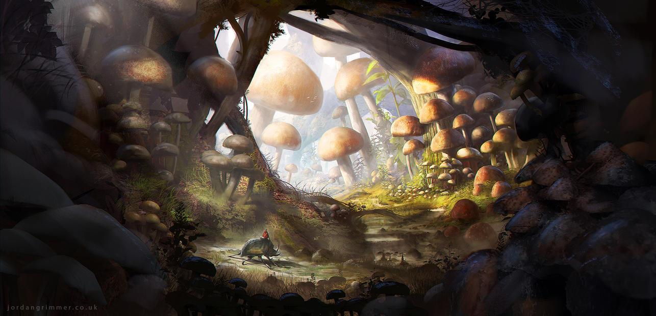 Mushroom land. (Bosque) Mushroom_land_by_jordangrimmer-d6wpoi1