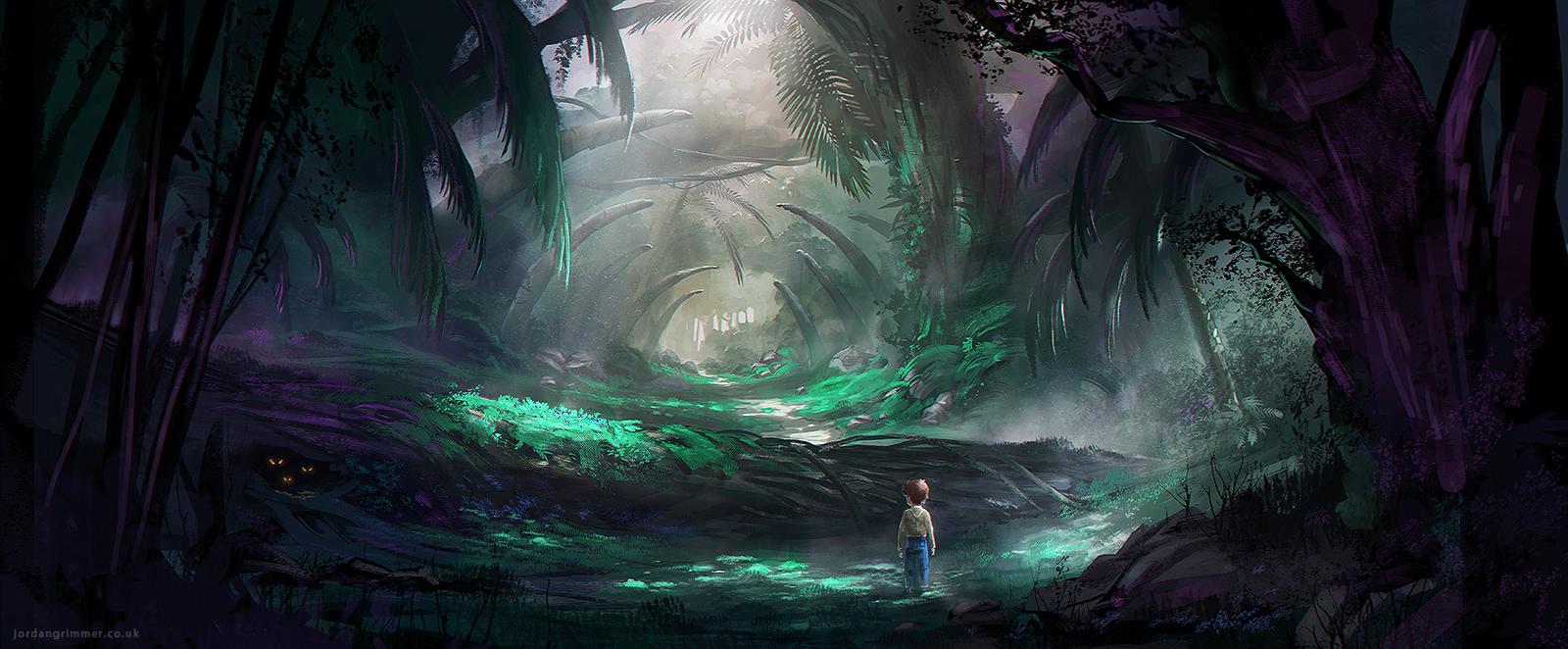 Deep dark wood by jordangrimmer digital art drawings paintings