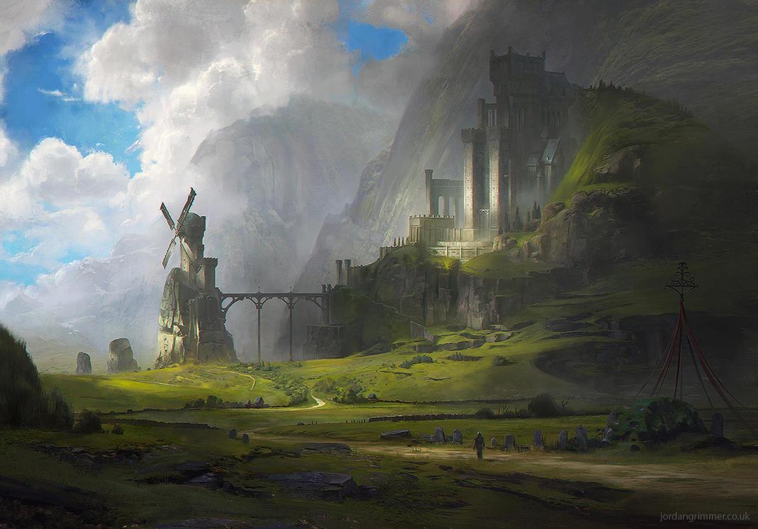Ventus castle by jordangrimmer on deviantart for Artwork landscapes