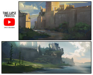 Landscape Sketching Process Videos by jordangrimmer