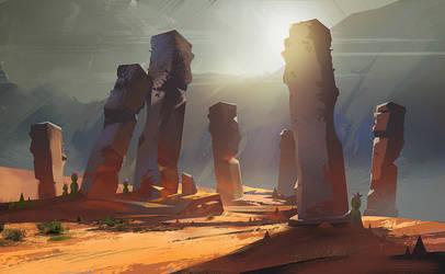 Desert Pillars + Process by jordangrimmer