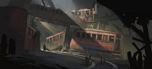 Train Graveyard + Process by jordangrimmer