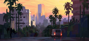 City Sunset + Process Video by jordangrimmer