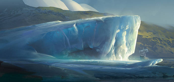 Iceberg: Digital Painting Process