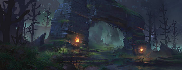 Forest Ruins: Concept Art Process