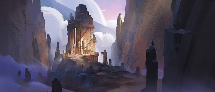 Mountain Ruin: Concept Art Tutorial