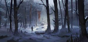 Winter Forest + Process by jordangrimmer