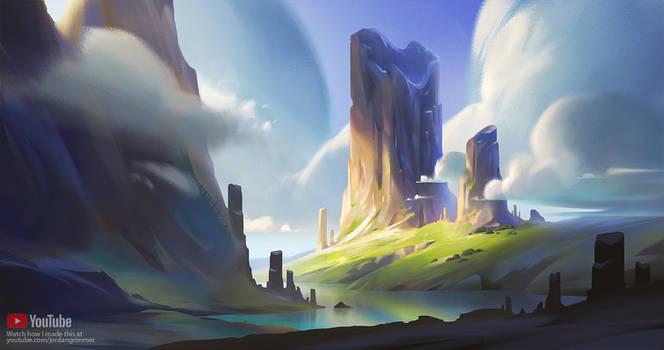 Landscape Digital Painting Tutorial