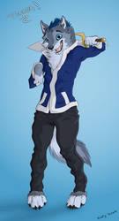 Tibber the blue doggo (gift for Kai the Lion) by GTHusky