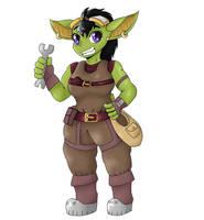 Ax Diabloiz the Goblin Artificer ! [Comm]